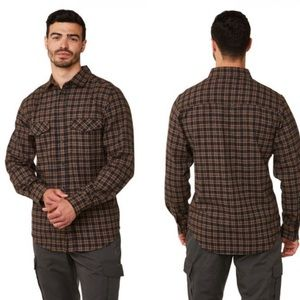 CRAGHOPPERS hiking check button plaid flannel XXL